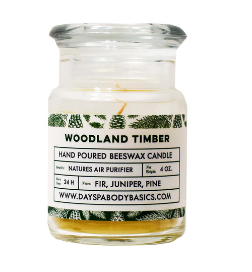 Woodland Timber Beeswax Candle
