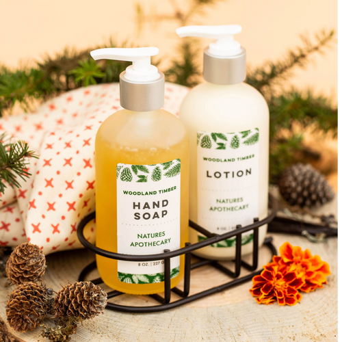 Woodland Timber Lotion For Dry Skin | Silky, Nourished, & Hydrated Skin | Organic Safflower Hand, Face & Body Lotion| Sensitive Skin Formula | Handmade in USA | Simple Ingredients, Naturally Better Results