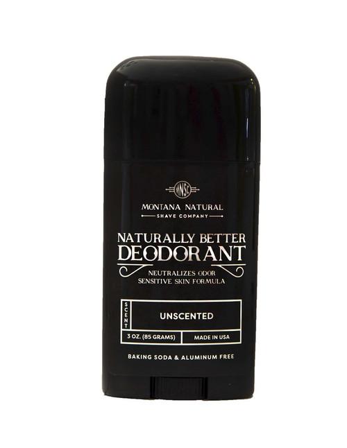 Unscented Deodorant Stick | Sensitive Skin Formula | Baking Soda Free | Aluminum Free Montana Natural Shave Company