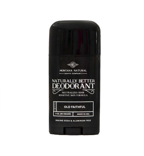 Old Faithful Deodorant Stick | Sensitive Skin Formula | Baking Soda Free | Aluminum Free Montana Natural Shave Company