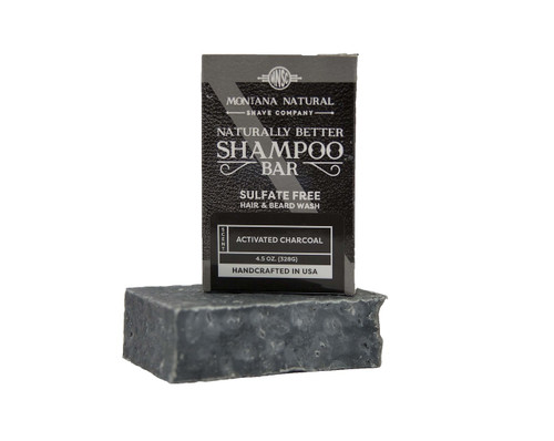 Activated Charcoal Travel Friendly Solid Shampoo and Beard Wash - Montana Natural Shave Company