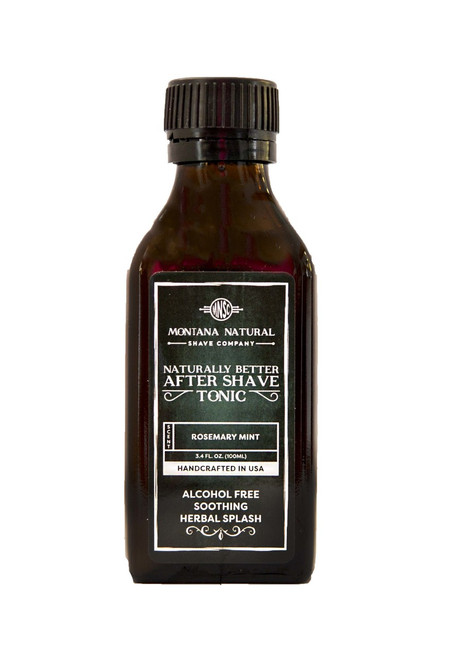 Rosemary Mint Old School Aftershave Tonic. Naturally Better  Alcohol Free Botanical Splash. Montana Natural Shave Company