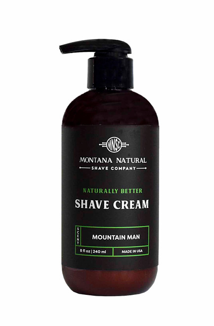 Mountain Man Pump Shave Cream Montana Natural Shave Company