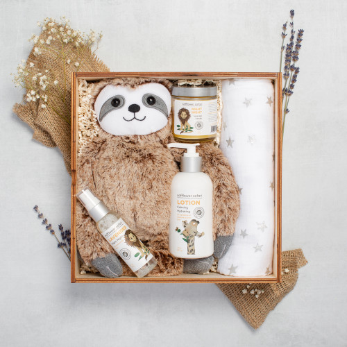 Night Night Lavender Aromatherapy Baby Gift Set, Baby Sloth Theme