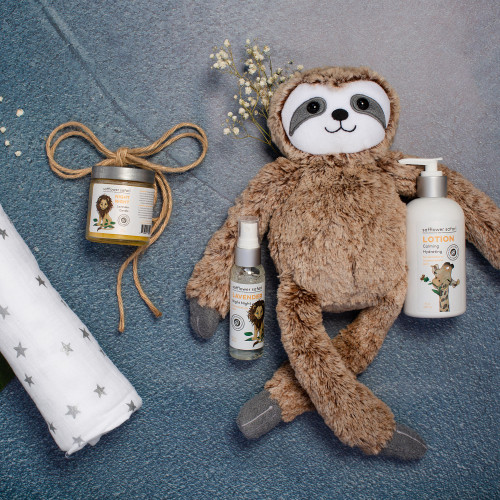 Night Night Lavender Aromatherapy Baby Gift Set, Baby Sloth Theme