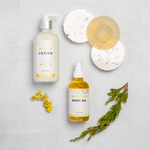 Sweet Jasmin -  The Gift of Luxury - Perfect House Warming Gift - Curated Gifts By DAYSPA Body Basics Basics Gift Box Made in USA