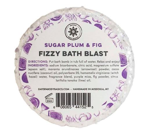 Sugar Plum & Fig All-Natural Fizzy Bath Blast - Vegan Bath Bomb