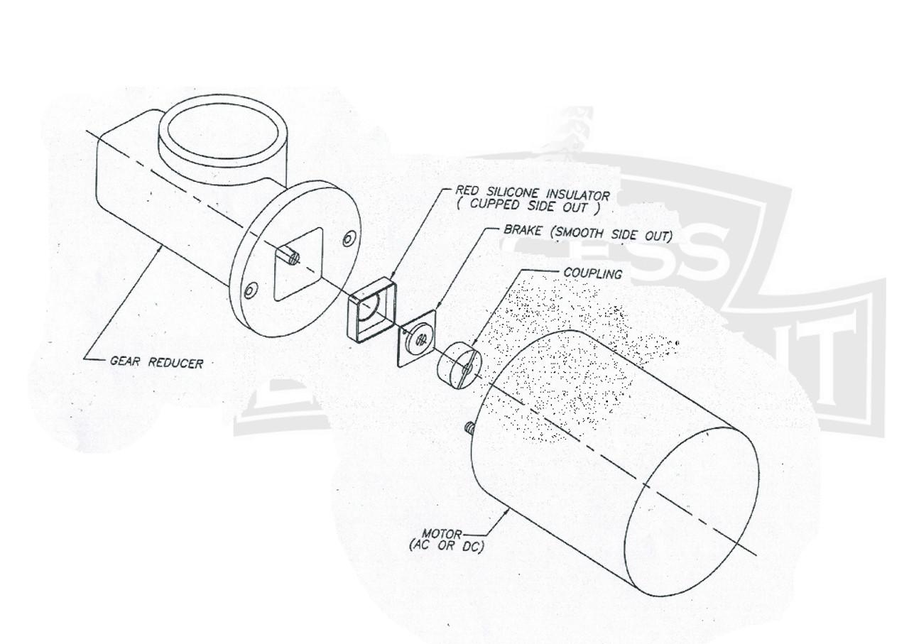 Spinalator Travel Motor With Heat Sink Brake Puck Capacitor
