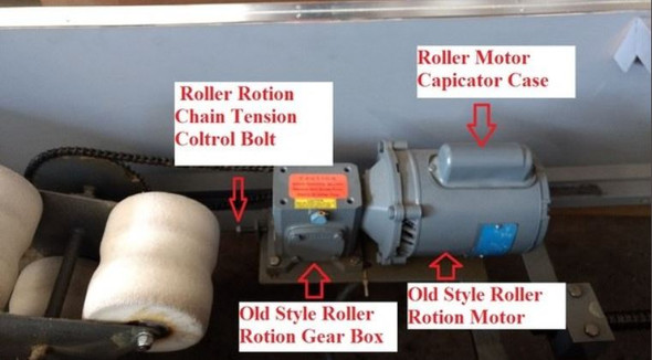 Spinalator Replacement Rotation Motor - Older Style Tables