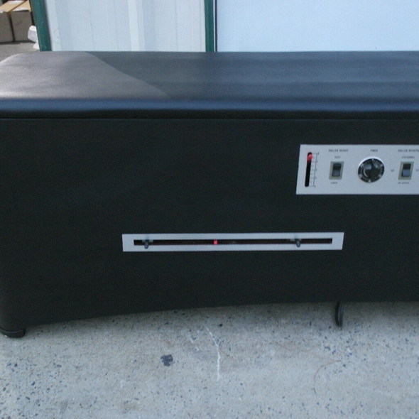 Spinalator Table  with Accutrac- NEW BLACK UPHOLSTERY