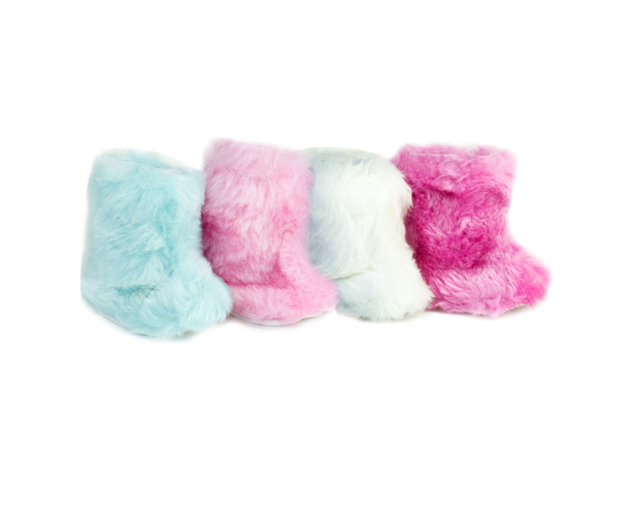 """Sophia/'s® Faux Suede Booties with Fur Trim fits 18/"""" Dolls"""