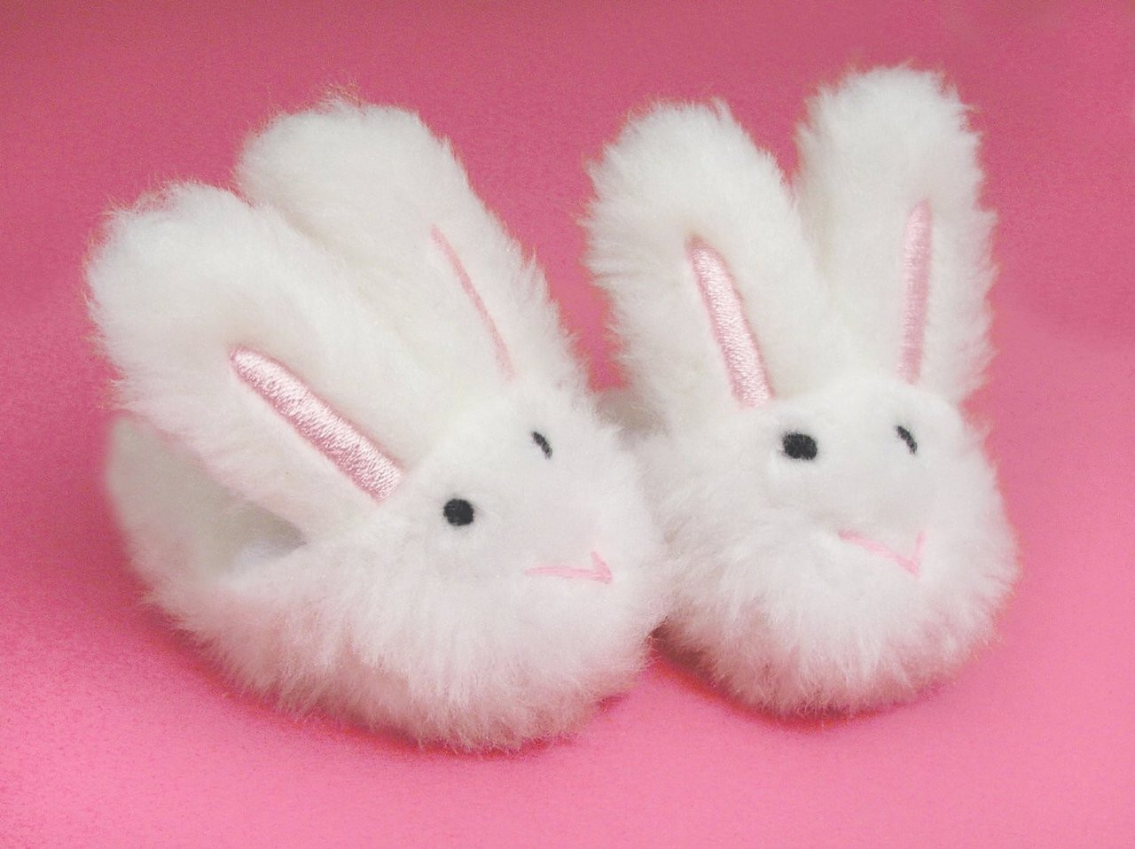 White Bunny Slippers Fits 18 Inch
