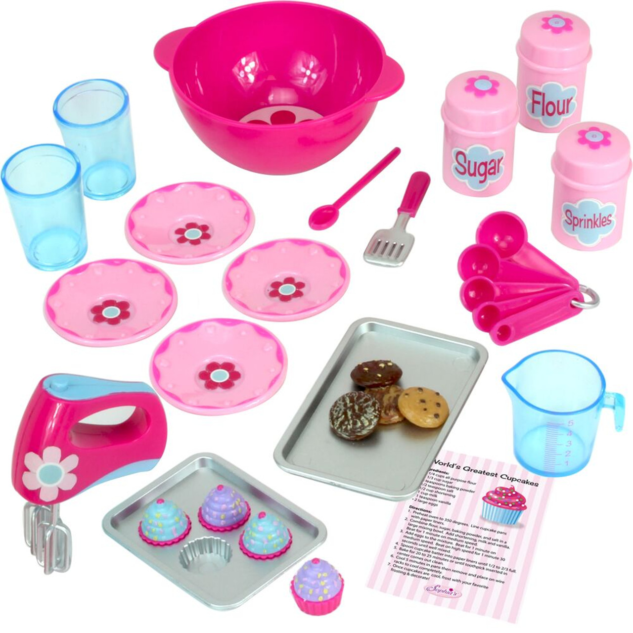 Soda Fountain Set Fits 18 inch American Girl Dolls Accessories by Sophia/'s
