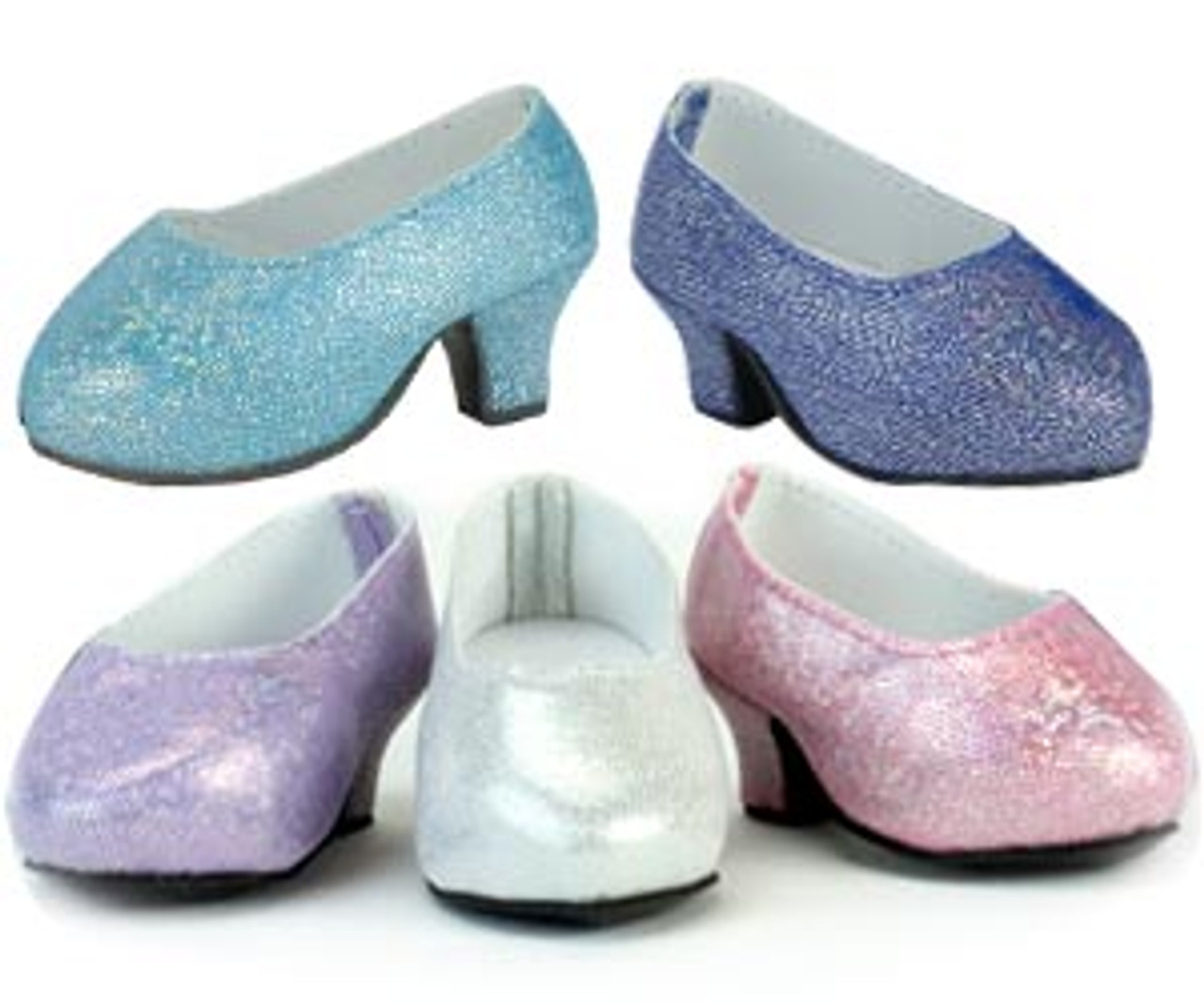 Silver Glitter Slip On Shoes 18 in Doll Clothes Fits American Girl