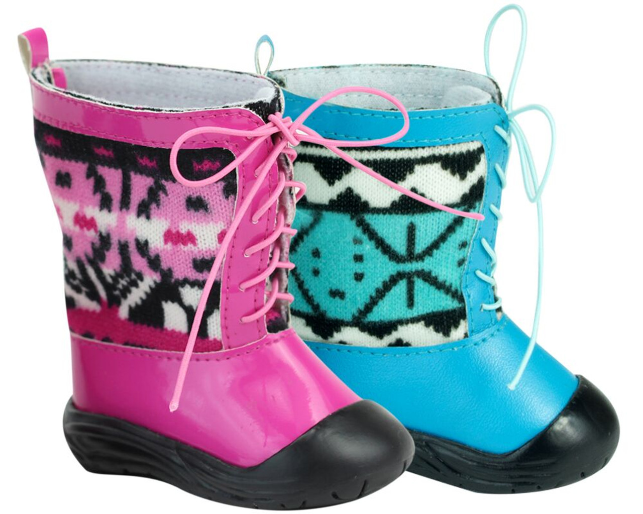 """Light Pink Rubber Rain Boots Wellies for 18/"""" American Girl Doll Clothes Shoes"""