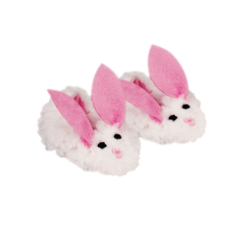 18-inch doll slippers girl doll cute plush white rabbit stretch band slippers