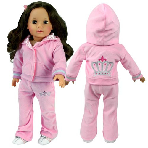 Light Pink Velour Sweatsuit Fits 18 Dolls My Doll S Life