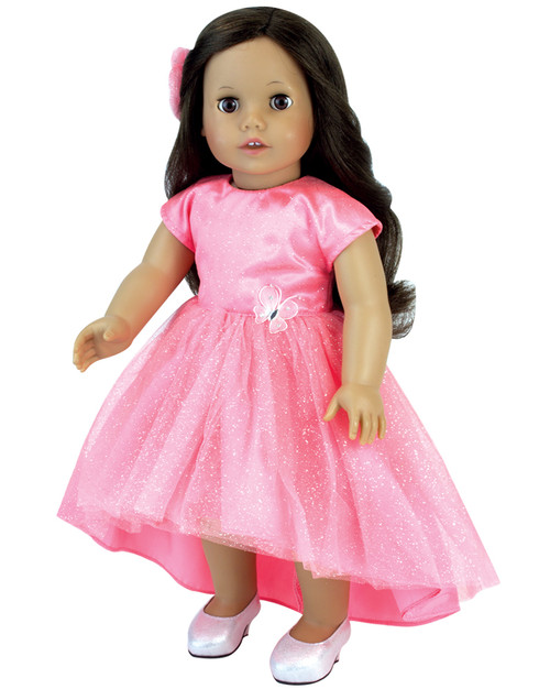 3927c61f76e Sophia s Coral Hi-Low Hem Dress for Special Events fits 18 Inch Dolls
