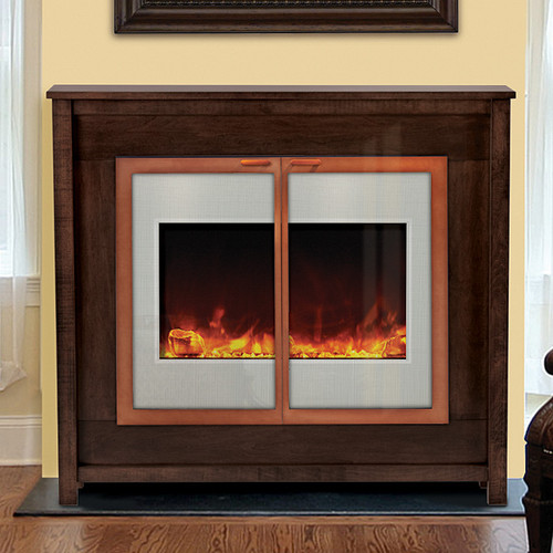 Zero Clearance Electric Fireplace 30 White Glass