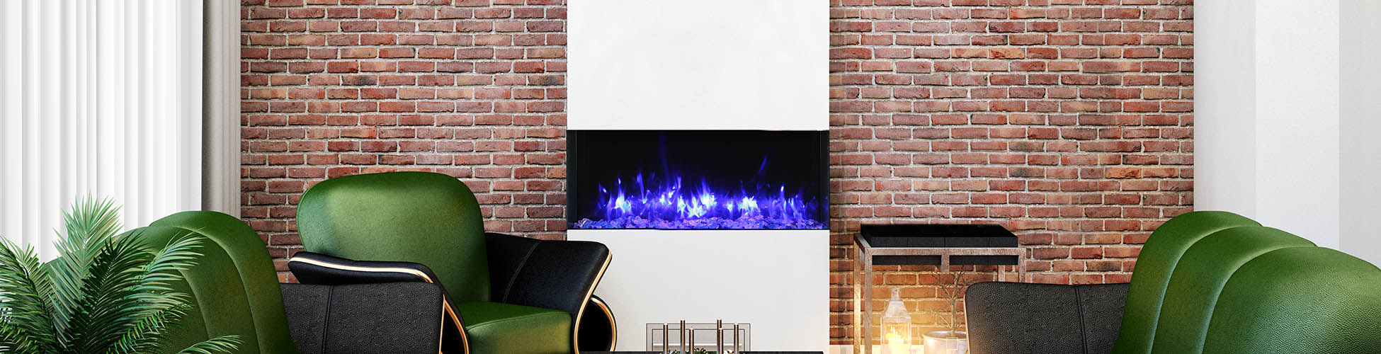 slim electric fireplace