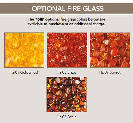 optional decoartive media and fire glass