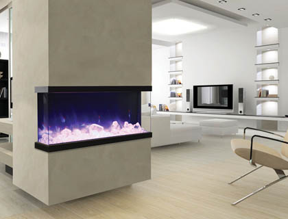 Amantii Tru-View electric fireplaces
