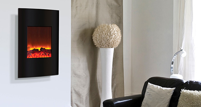 Electric fireplace - small - convex