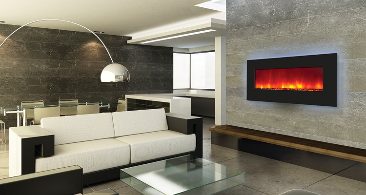 electric fireplace - wall mount or built in with backlighting