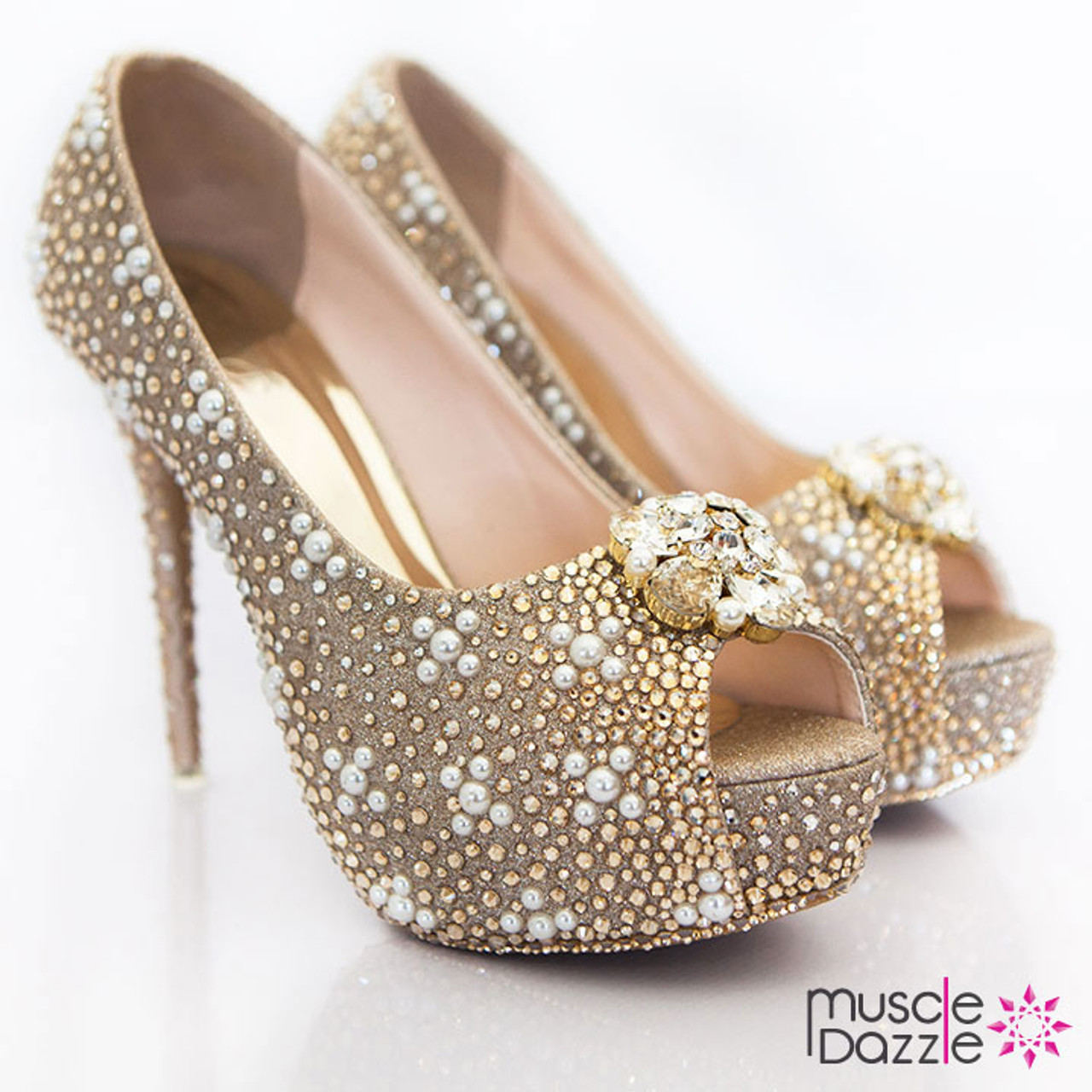 9a568793d6a High heel competition shoes crystals and pearls jpg 719x719 Pearl high heels