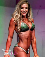 Green Ombre Crystal Competition Bikini