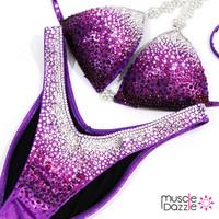 Purple Ombre Competition Figure Suit (FS193)