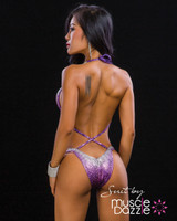 Purple Ombre Competition Figure Suit