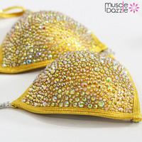 Yellow Crystal Competition Bikini (CB154)