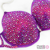 Underwire Violet Crystal Competition Bikini