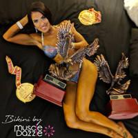 Dark Violet Crystal Competition Bikini