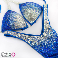 Royal Blue Figure Competition Suit