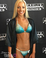 Teal Ombre Crystal Competition Bikini
