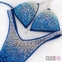Blue Ombre Figure Competition Suit