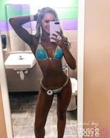 Teal Crystal Competition Bikini