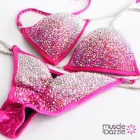 Fuchsia Crystal Competition Bikini