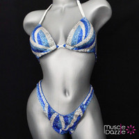 Blue Figure Competition Suit