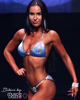 Blue Ombre Crystal Competition Bikini