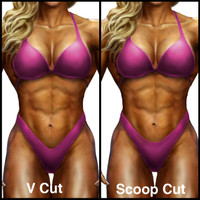 Muscle Dazzle figure suit front styles