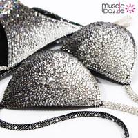 Silver / Grey Crystal Competition Bikini