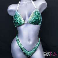 Green Figure Competition Suit (FS201)