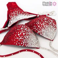 Red Crystal Competition Bikini (CB228)