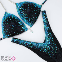 Black and Blue Figure Suit
