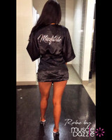 Personalized Black Bikini Competition Robe