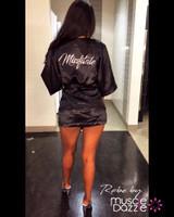 Personalized Black Bikini Competition Robe