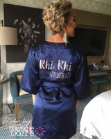 Personalized Navy Blue Bikini Competition Robe